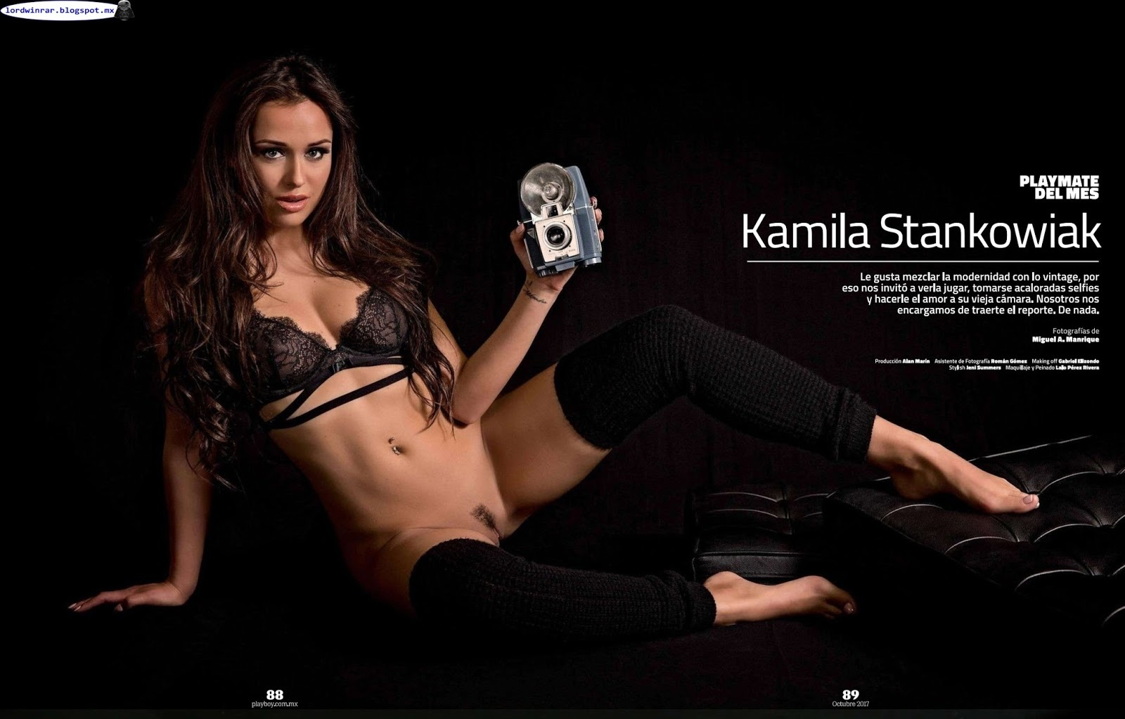 Kamila Stankowiak y Maria Liman en Playboy (octubre 2017)